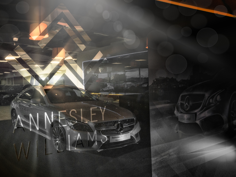 Annesley Williams Car Display Background Graphics Design - Photograph