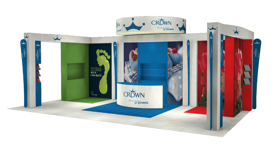 IBE Exhibit - Modular Stand Design - Crown Paints - Image