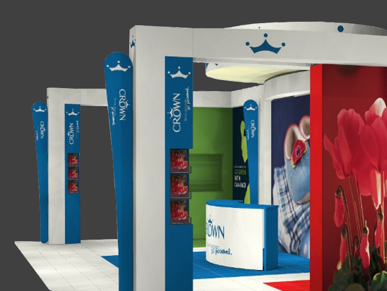 IBE Exhibit - Modular Stand Design - Crown Paints - Photograph