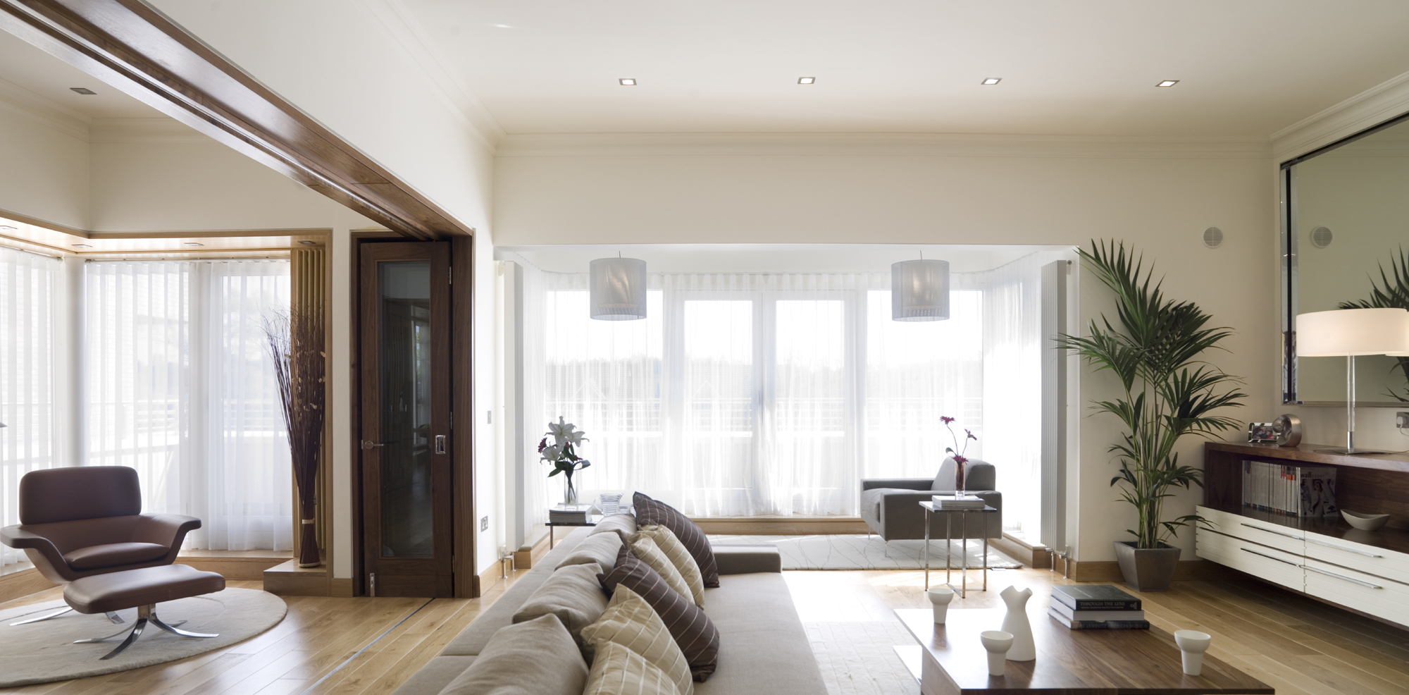 Bespoke Fitted Furniture Design- Penthouse Apartments - Penthouse Lounge Design Photograph