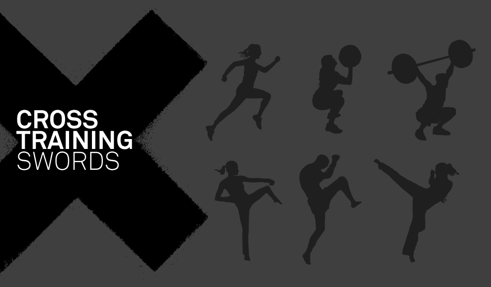 Cross Training Swords Graphics Illustrations