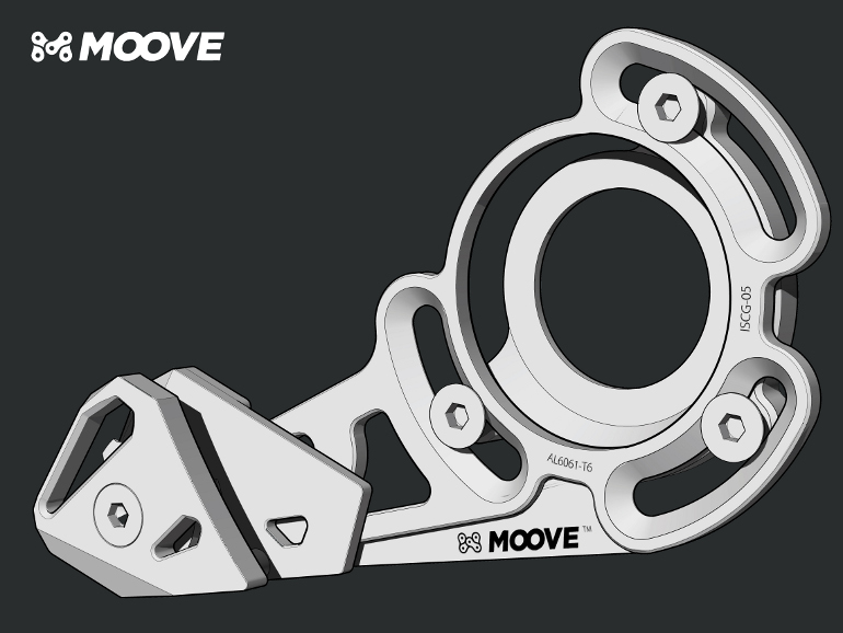 IBE Illustration - Technical Illustration - Moove Mountain Bike Chain Guard Illustration