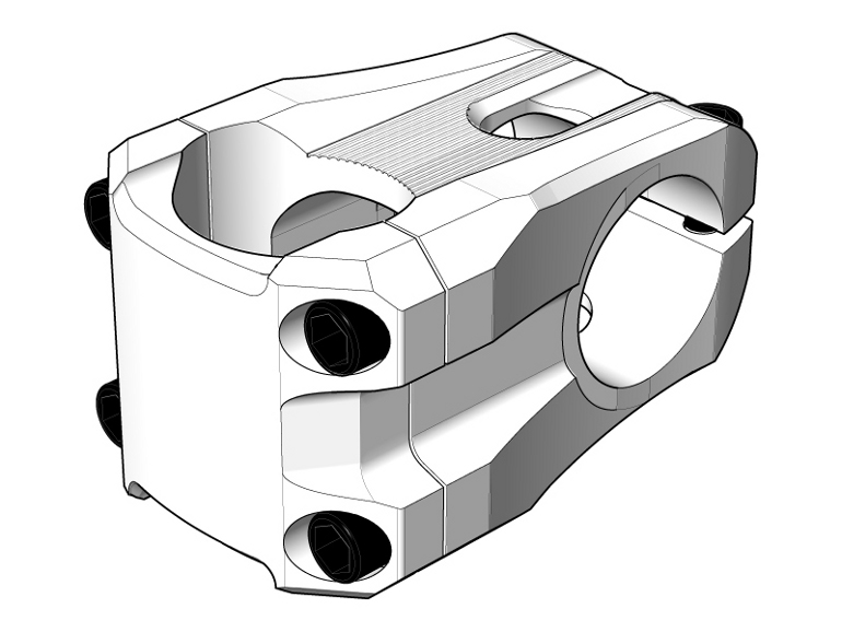 IBE Illustration - Technical Illustration - Moove Mountain Bike Handlebar Clamp Illustration