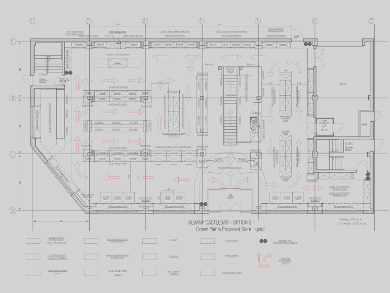 IBE Office & Commercial - Large Commercial Projects - Crown Paints Albany Superstore Floor Plan Layouts