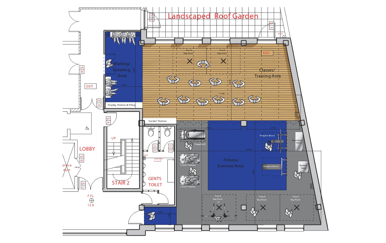 IBE Office & Commercial - Fitness Gym Floor-Plan Layout Design - Fresh Start Fitness