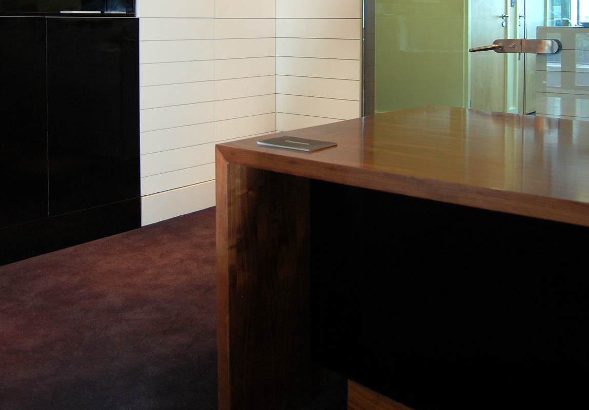 IBE Office & Commercial - Office Furniture Design - Instacom Offices & A.V. Showroom - Reception Desk Design