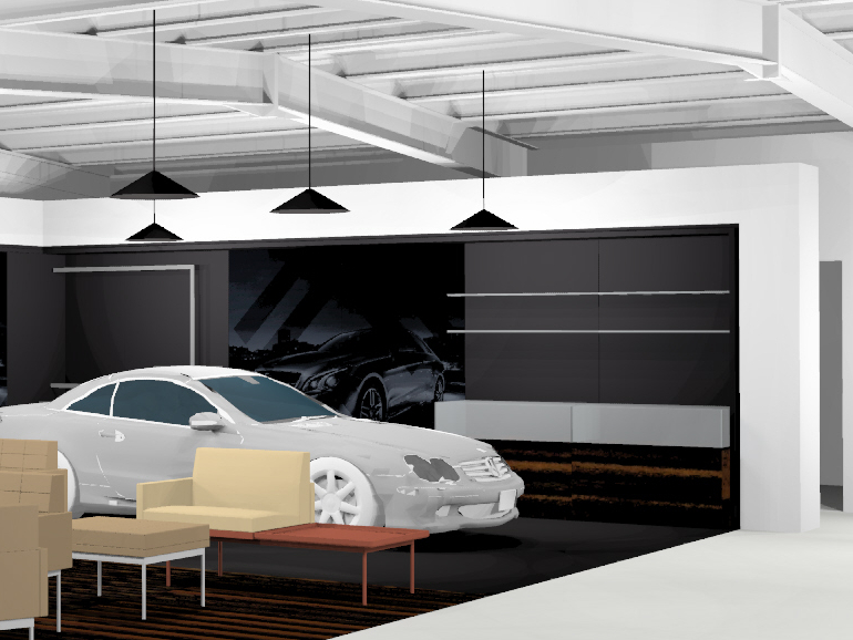 IBE Retail Showroom Design - Annesley Williams Car Showroom Concept 1 - Photograph