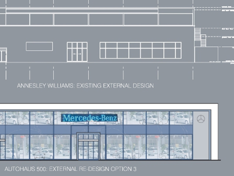 IBE Retail Showroom Design - Annesley Williams Car Showroom Concept 2 - Photograph
