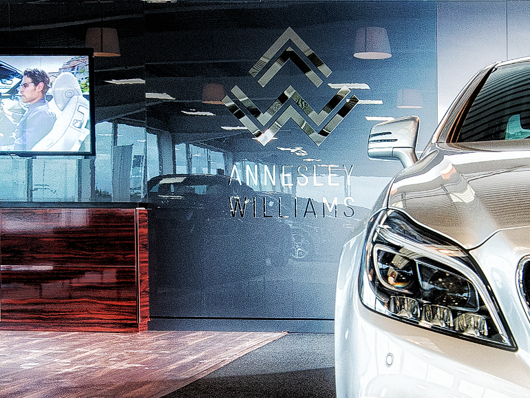Retail Showroom Design - Annesley Williams Car Showroom Design - Photograph