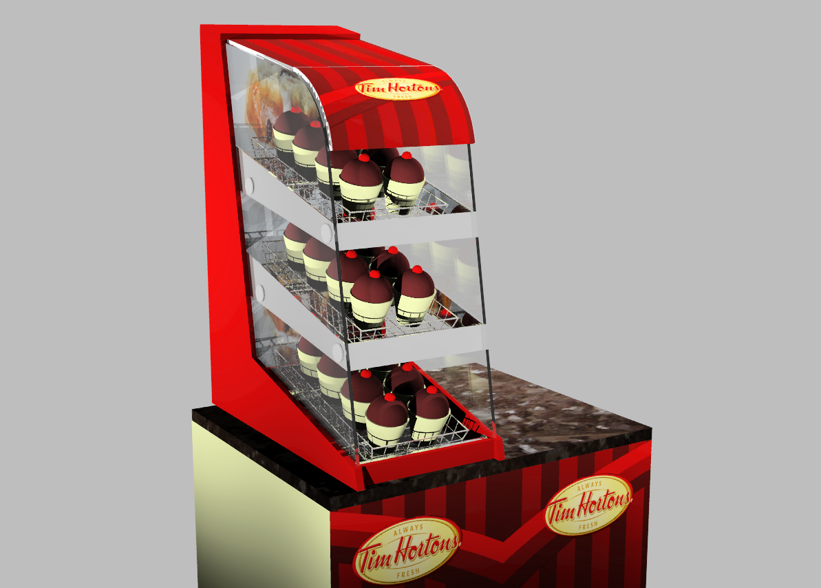 IBE Retail Food & Beverage Display Design - Aryzta Cuisine De France - Tim Horton's Donuts POS Display Design