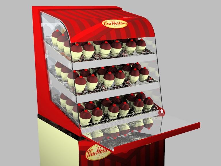 Retail Food & Beverage Display Design - Aryzta Cuisine De France - Tim Horton's Donuts POS Display Design