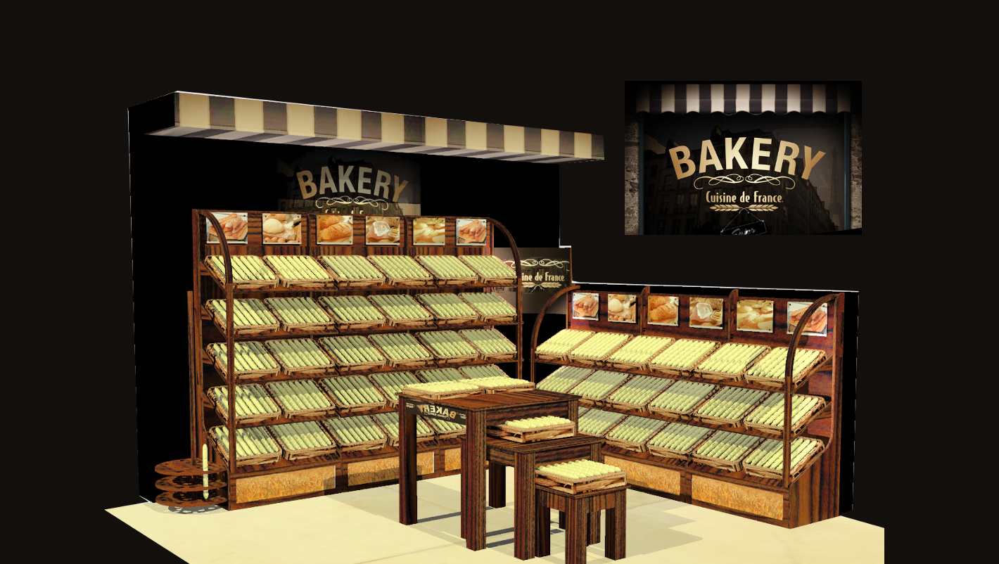 IBE Retail Food & Beverage Display Design - Aryzta Cuisine De France Bakery Display Design 1