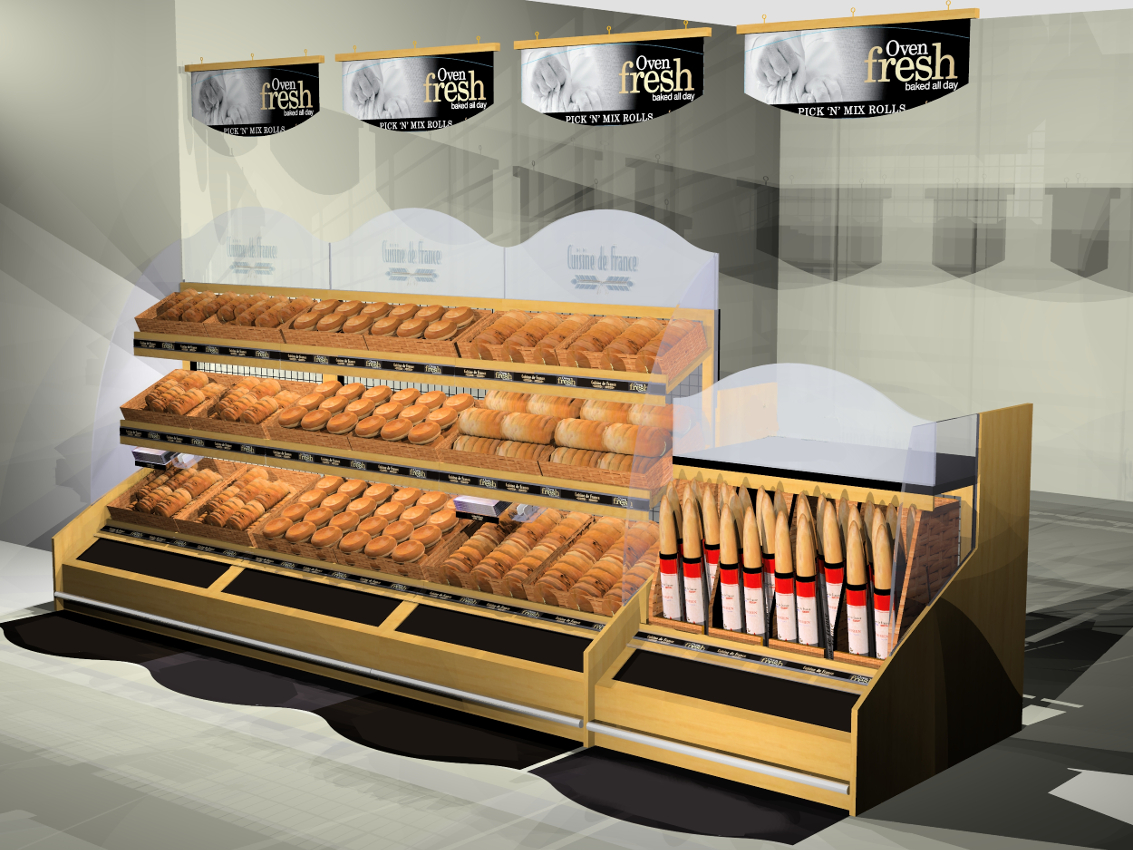 IBE Retail Food & Beverage Display Design - Aryzta Cuisine De France Bakery Display Design 3