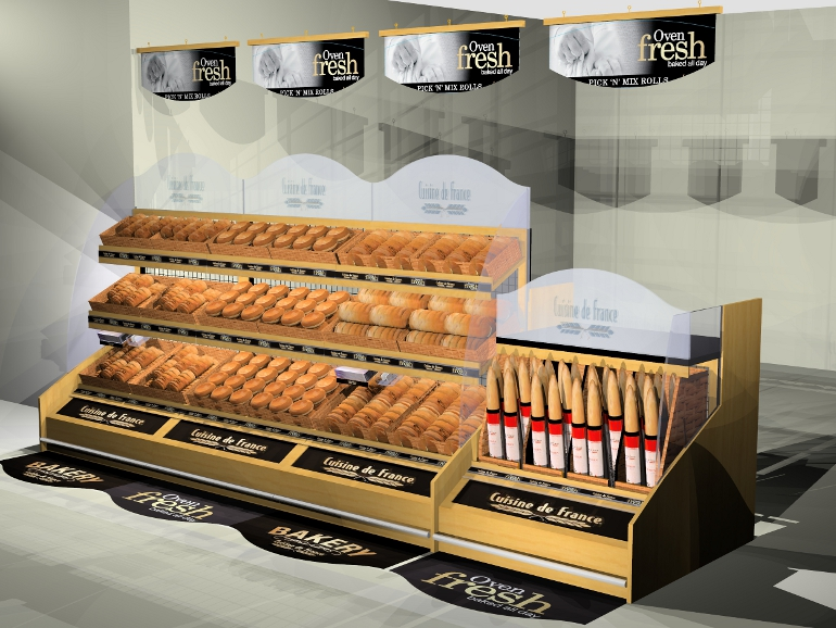 Retail Food & Beverage Display Design - Aryzta Cuisine De France Bakery Display Design 3