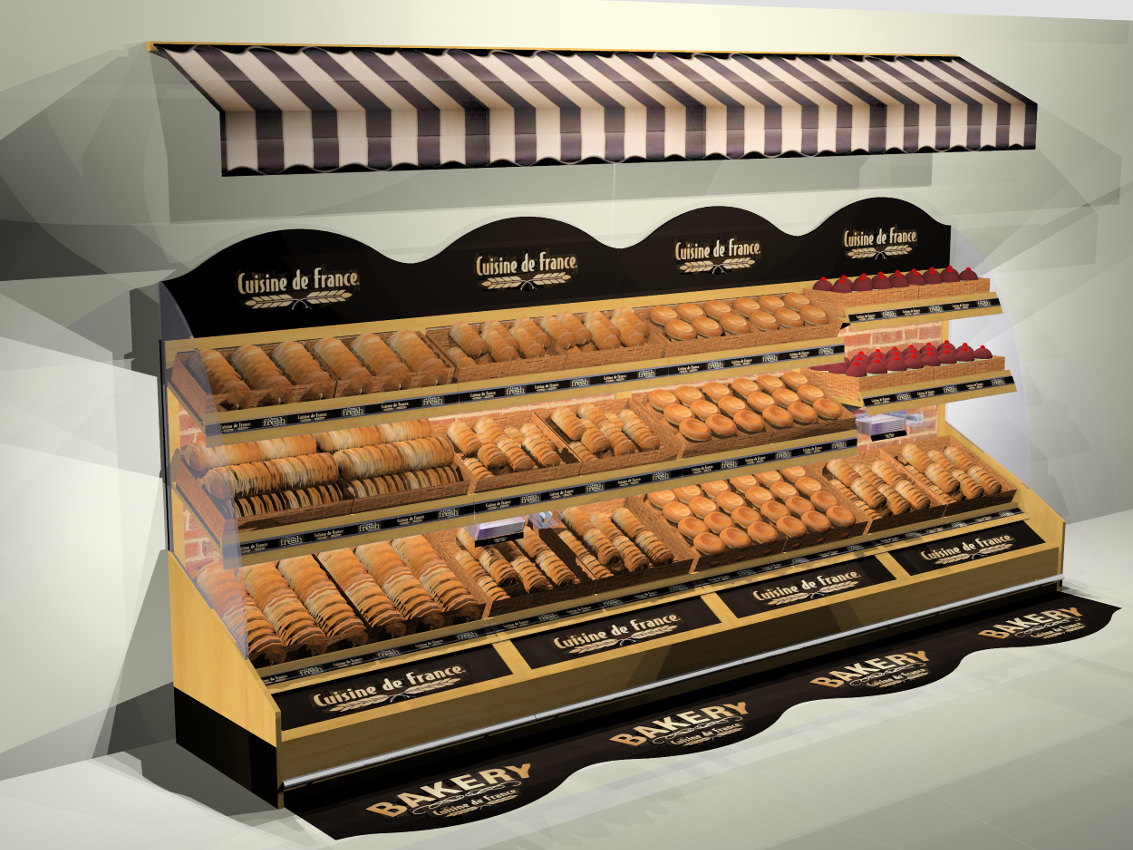 IBE Retail Food & Beverage Display Design - Aryzta Cuisine De France Bakery Display Design 4