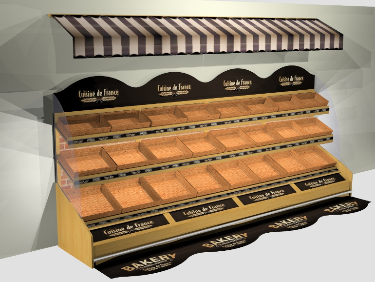 Retail Food & Beverage Display Design - Aryzta Cuisine De France Bakery Display Design 4