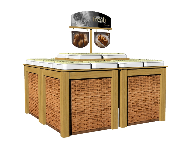 Retail Food & Beverage Display Design - Aryzta Cuisine De France Bakery Display Design 6