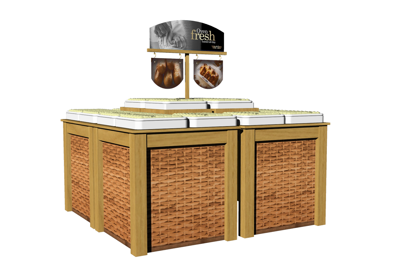 IBE Retail Food & Beverage Display Design - Aryzta Cuisine De France Bakery Display Design 6