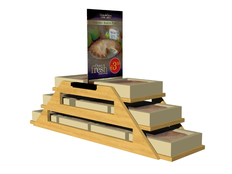 Retail Food & Beverage Display Design - Aryzta Cuisine De France Bakery Display Design 7