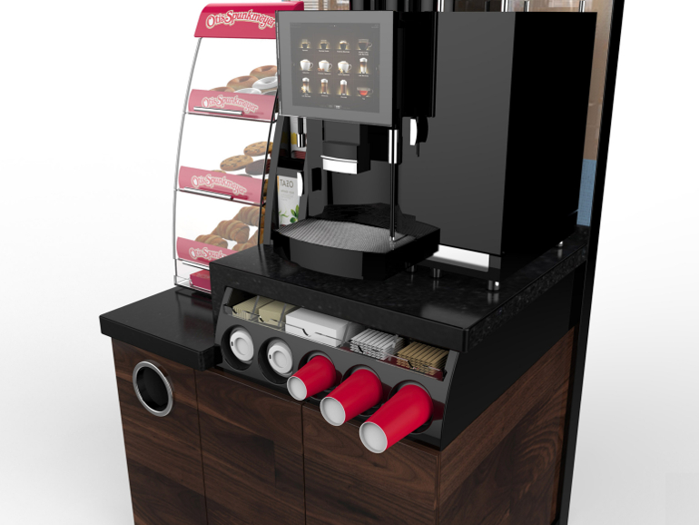 Retail Food & Beverage Display Design - Aryzta Cuisine De France - Seattle's Best Coffee Unit - Production & Detailing Design