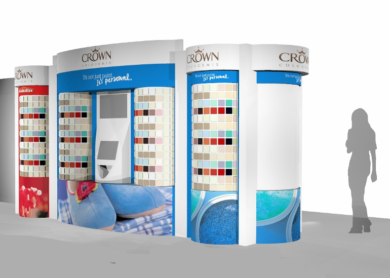 IBE Retail Concession Store Design - Crown Paints Concession Store Design 4 - ColorMix Centre 1 - Design Concept