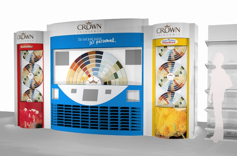 IBE Retail Concession Store Design - Crown Paints Concession Store Design 5 - ColorMix Centre 2 - Design Concept