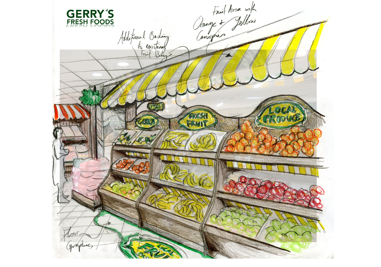 IBE Retail Food & Beverage Display Design - Allied Retail for Gerry's Supermarket Skerries POS Display Design