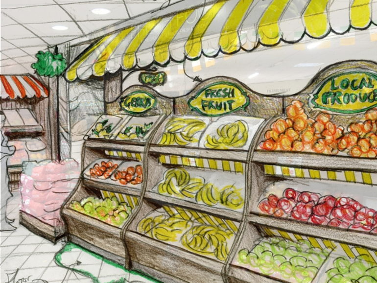 Retail Food & Beverage Display Design - Allied Retail for Gerry's Supermarket Skerries Design POS Display Design