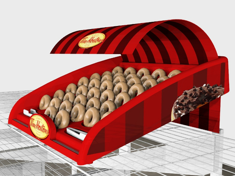 IBE Retail Food & Beverage Display Design - Aryzta Cuisine De France - Tim Horton's Food Display Design